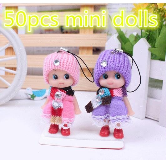 50pcs Baby Doll Kids Toys Soft Interactive silicone reborn reine des neiges Mini Doll cartoon educational fashion creative Dolls
