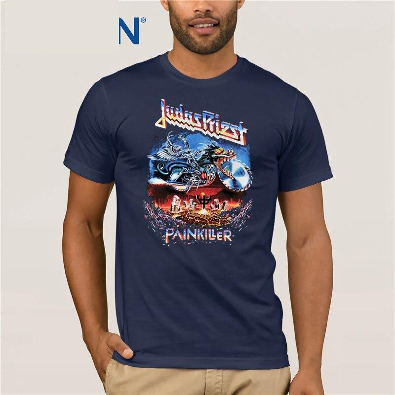 Hard Rock Punk Metal Band Judas Priest Painkiller Mens Unisex T-shirt T Shirt Hot Topic Men Short Sleeve PLUS SIZE