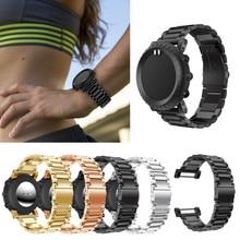 1bf638aed00 Aço Inoxidável relógio Banda Strap Pulseira Pulseira Ajustável Substituição  Para Suunto Core ...