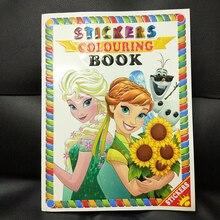 16 страниц Снежная принцесса девушки цвет ing книга наклейка книга для детей дети взрослые раскраска Рисование история цвет книги