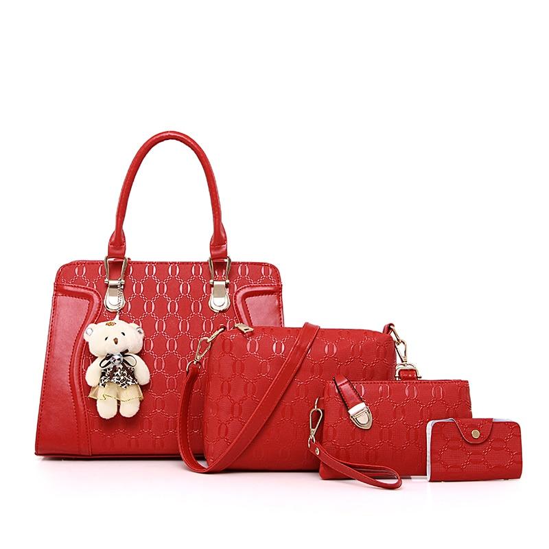 b071033d1c Aliexpress.com   Buy Dropshipping Women Bag Brand 2018 Fashion Women  Messenger Bags Handbags PU Leather Female Bag 4 piece Set from Reliable  Shoulder ...