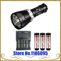 XTAR D35 3 x Cree XM-L U2 Diving LED Flashlight 2800 Lumens Underwater 100meter + 3x18650 3100mah Battery +VC4 Charger