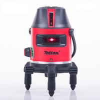 2017 Newest Mtian Red Laser Level 10X Light 5 Lines 6 Points 360 Rotary Cross Laser
