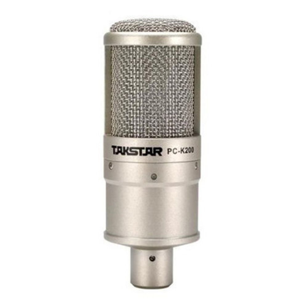 Original TAKSTAR PC-K200 Studio Condenser Microphone Professional Recording Mike music create broadcast capacitor microphone heat live broadcast sound card professional bm 700 condenser mic with webcam package karaoke microphone