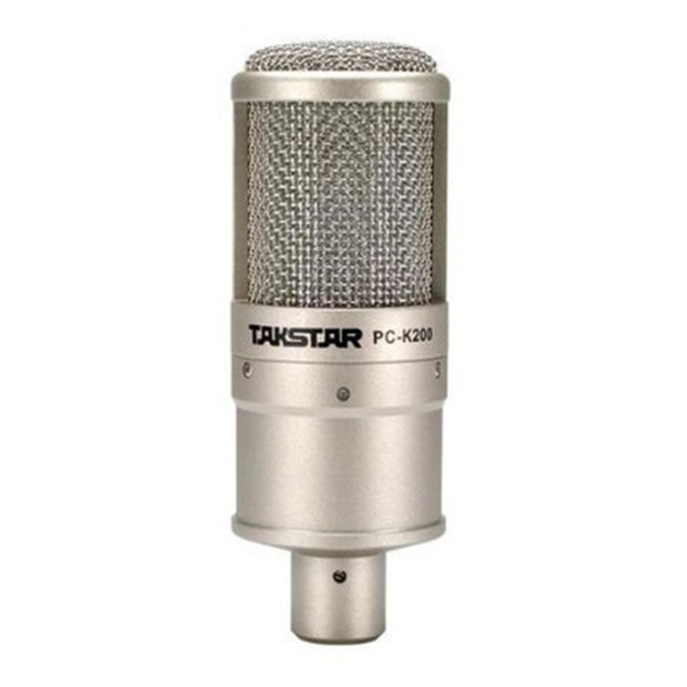 TAKSTAR PC-K200 Studio Condenser Microphone Professional Recording Music Create Broadcast Capacitor Mic PC & Cell Phone Karaoke original isk bm 800 studio condenser microphone professional recording mike music create broadcast capacitor microphone
