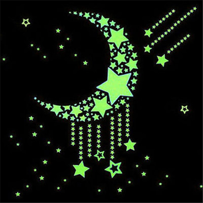 191e327c89 100pcs Wall Stickers Decal Glow In The Dark Baby Kids Bedroom Home Decor  Color Stars Luminous Fluorescent Wall Stickers Decal-in Wall Stickers from  Home ...