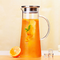 1500ML Water Kettle Glass Container Drinkware Glass Juice Coffee Kettle Glasses Teacup Jar Cup Mason Jar with Handgrip water mug