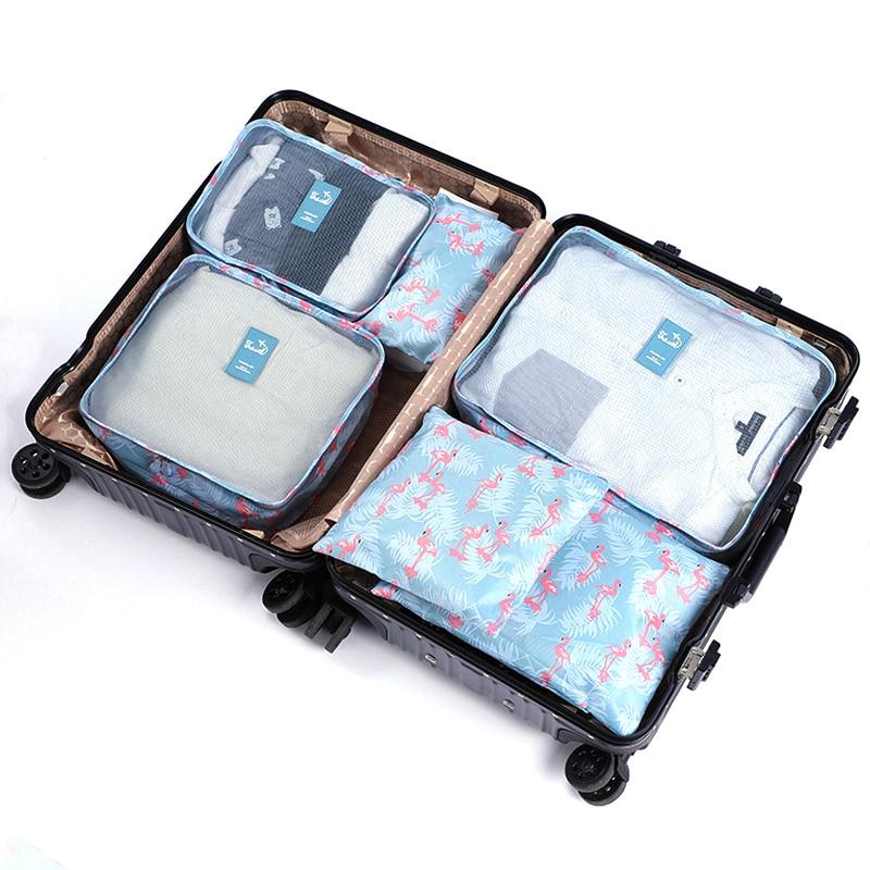 6PCS Flamingo Packing Cubes Travel Luggage Organizer Women Oxford Wholesale Mens Travel Bag Organizer Set Packing Cube 4856PCS Flamingo Packing Cubes Travel Luggage Organizer Women Oxford Wholesale Mens Travel Bag Organizer Set Packing Cube 485