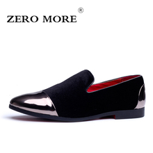 hot deal buy zero more mens shoes casual large sizes silp on hot sale flock men's loafers velvet shoes soft breathable men shoes loafers
