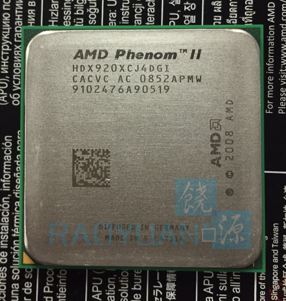 AMD Phenom X4 920 2.8GHz Quad-Core CPU Processor HDX920XCJ4DGI 95W Socket AM2+/940PIN