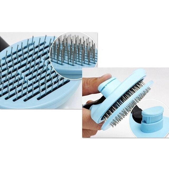 HOOPET Dog Cat Comb Shedding Tool Brush Comb Rake Pet Fur Grooming Quick Clean  Short Hair