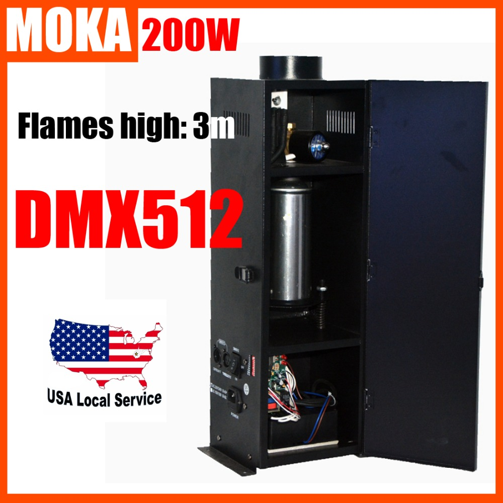 200W Four Corner stage flame machine Spray Fire Machine Dmx Flame Projectors Stage Equipment DMX Fire Machine