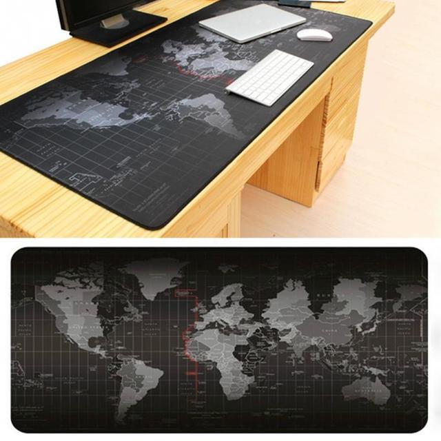 90x40cm Breathable Absorbent World Map Mouse Pad R Desk Modern Felt Office Mat Computer