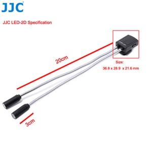 Image 5 - JJC DSLR كاميرا مرنة ماكرو LED مصابيح فلاش ضوء Speedlight لكانون 60D 5D مارك II 5D مارك III 760D 750D سوني نيكون ضوء