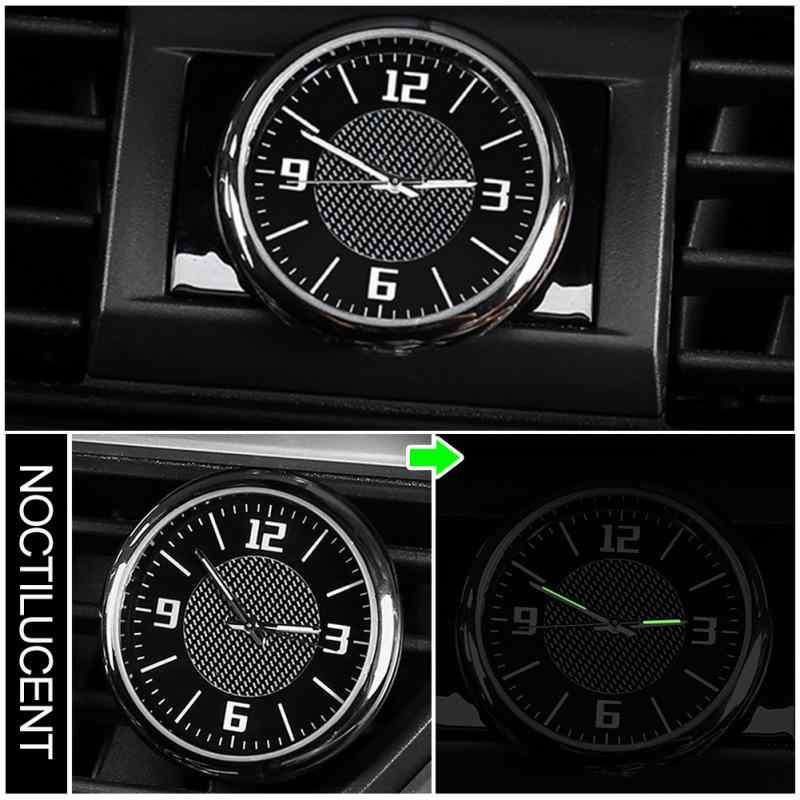 Luminous Automobile Quartz Clock Car Decoration Watch Ornament Vehicle Auto Interior Watch Digital Pointer Car styling With Clip