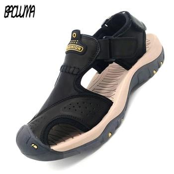 Classic Men Soft Sandals Comfortable Men Summer Shoes Leather Sandals Big Size Soft Sandals Men Roman Comfortable Men Summer 1