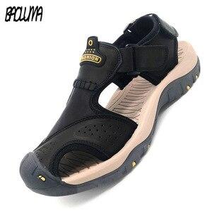 الكلاسيكية الرجال لينة الصنادل مريحة الرجال الصيف الأحذية الصنادل الجلدية حجم كبير لينة الصنادل الرجال الرومانية مريحة الرجال الصيف
