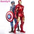 New hot 18cm PVC Action Figure toy Legends Civil War Captain America Black Panther Vision Falcon Iron Man
