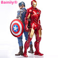 Nueva caliente 18 cm Acción PVC Figure toy Legends Iron Man Capitán América Negro Pantera Visión Falcon Guerra Civil