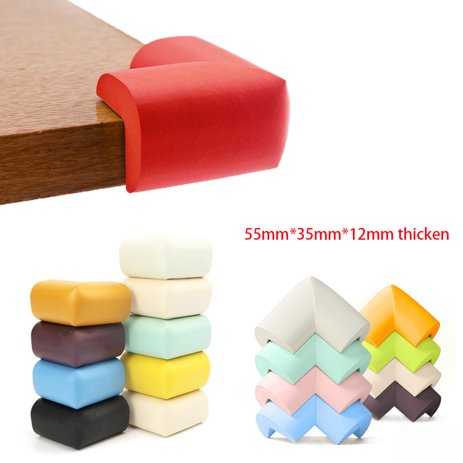 8pcs 55mm*55mm*12mm Thicken Table Corner Protector With Free Tape Baby Proof Protector Child Protection Soft Pad Wholesale