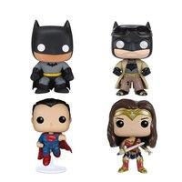 10 см версии super hero ПВХ фигурки героев популярные Бэтмен/Супермен/Чудо женщина модель куклы Коллекция игрушечные лошадки детский подарок
