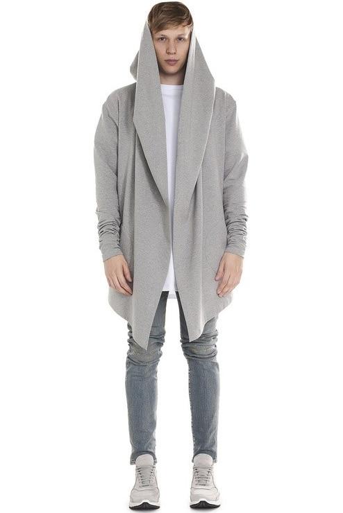 Cheveux Vêtements gris 2017 5xl Manteau Taille Hoodies Costumes Gd Nouveau Noir Hop Hip De S Styliste Longueur Rue Mode Hommes Moyen Plus La EBw8I4qaFx