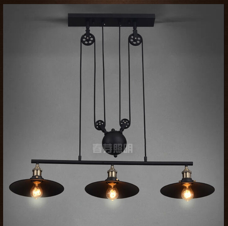 nordic industrial pendant lamp lights rh loft pulley adjustable retractable coffee hanglamp e27 light fixtures modern cheap modern lighting fixtures