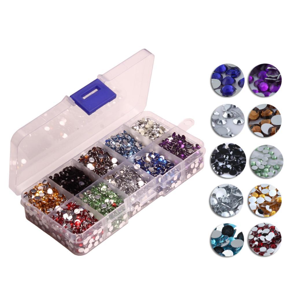 9000pcs Hotfix Rhinestones Flatback For DIY Clothes Bag Jewelry Cellphone