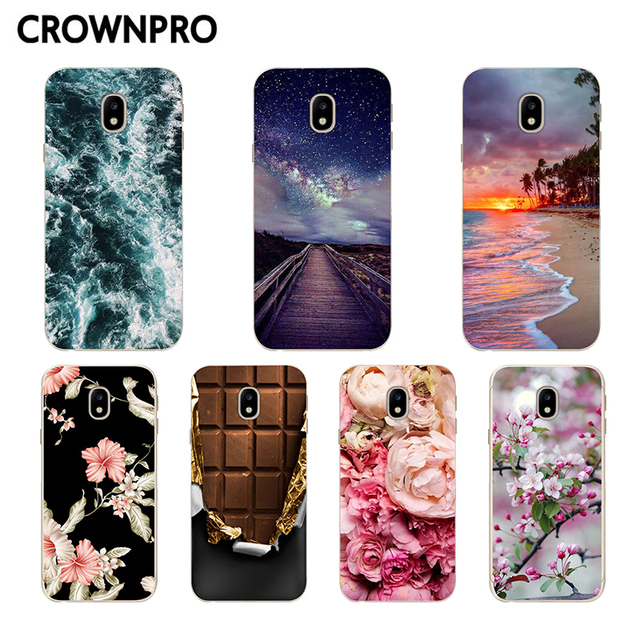 finest selection c6bf2 bacca US $0.96 20% OFF|CROWNPRO TPU Case FOR Samsung J3 2017 Case Cover Soft  Silicone Back FOR Samsung Galaxy J3 7 2017 J330 J330F Mobile Phone Cases-in  ...