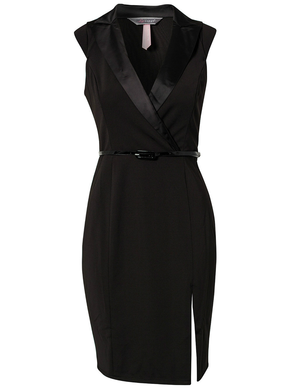 Black dress design - European And American Design 2014 New Fashion Women Black Ol Work Office Lady Celebrity Dress Club Party Dress With Belt 9d030 In Dresses From Women S