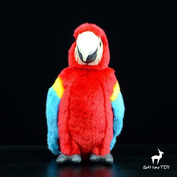Gros jouet rouge perroquet poupée en peluche animaux enfants jouets Simulation ara très agréable