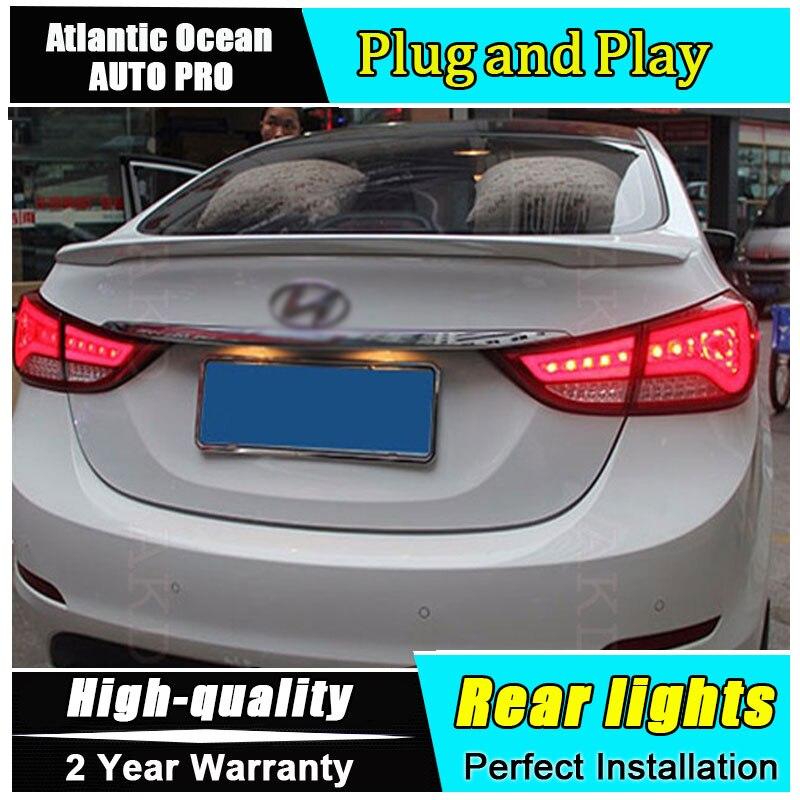 Автомобиль JGRT стайлинг для Хендай Элантра задние фонари БМВ дизайн Новая Elantra из светодиодов задний фонарь задний фонарь задний свет 1 пара ,4шт