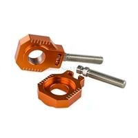 Rear Axle Blocks Chain Adjuster For KTM 350 450 525 530 EXC EXC F XC W
