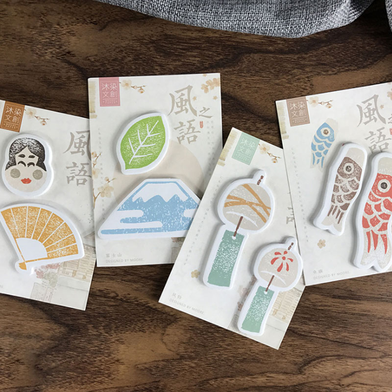 4pcs/lot Japanese style memo pad paper post notes sticky notes notepad kawaii stationery papeleria school supplies kids gifts