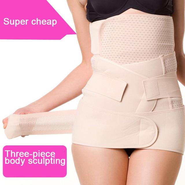 Free shipping. Postpartum abdomen with. Corset belt. Caesarean mothers straps. Three-piece body sculpting