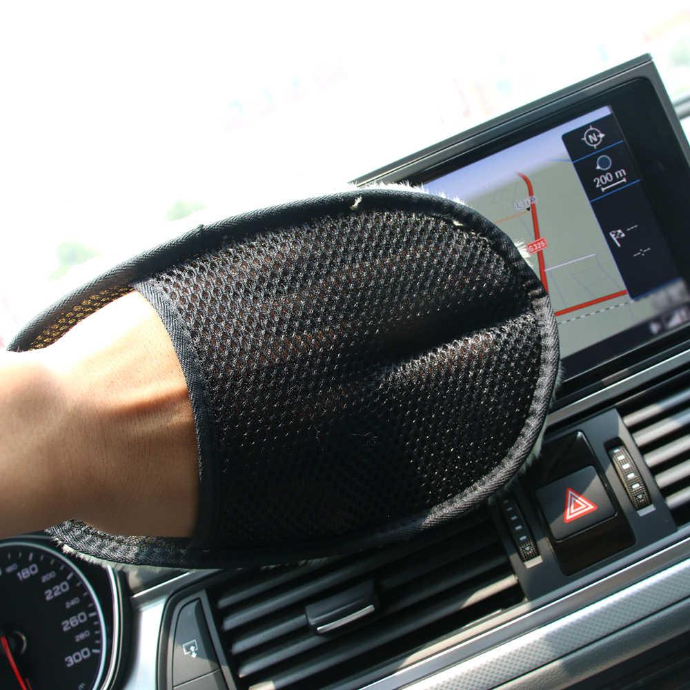 Perawatan Mitt Dilapisi Sarung Tangan Rumah Tangga Furniture Kaca Pembersihan Tahan Air Pembersihan Spons Kain Pembersih Mobil Aksesoris Mobil