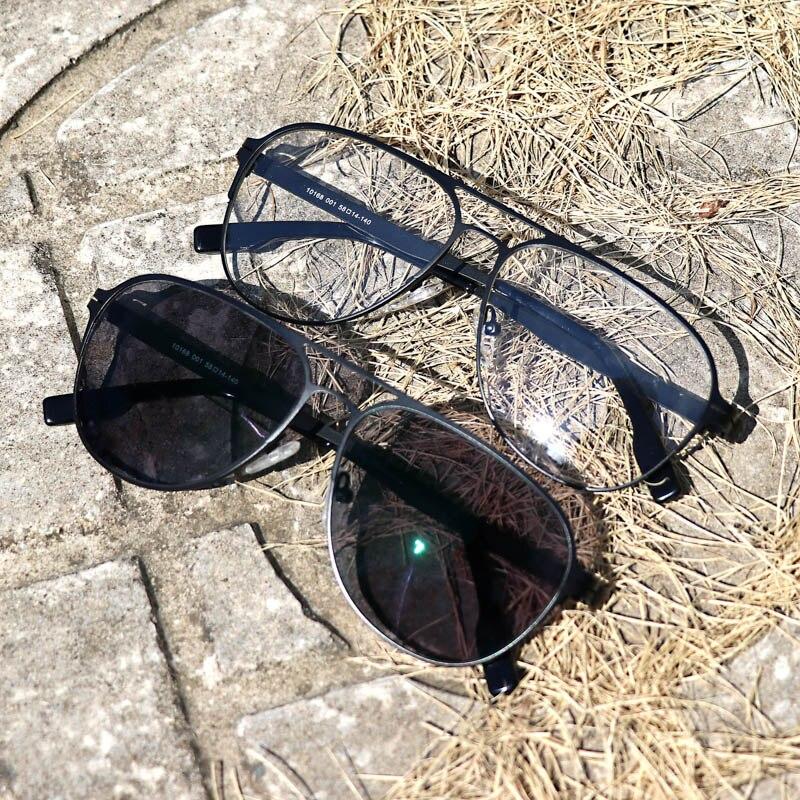 Image 5 - Myopia Sunglasses Finished Men Women Myopia Eyeglasses Frame with CR39 Sun Photochromism gray lens prescription Myopia Eyewear-in Men's Eyewear Frames from Apparel Accessories