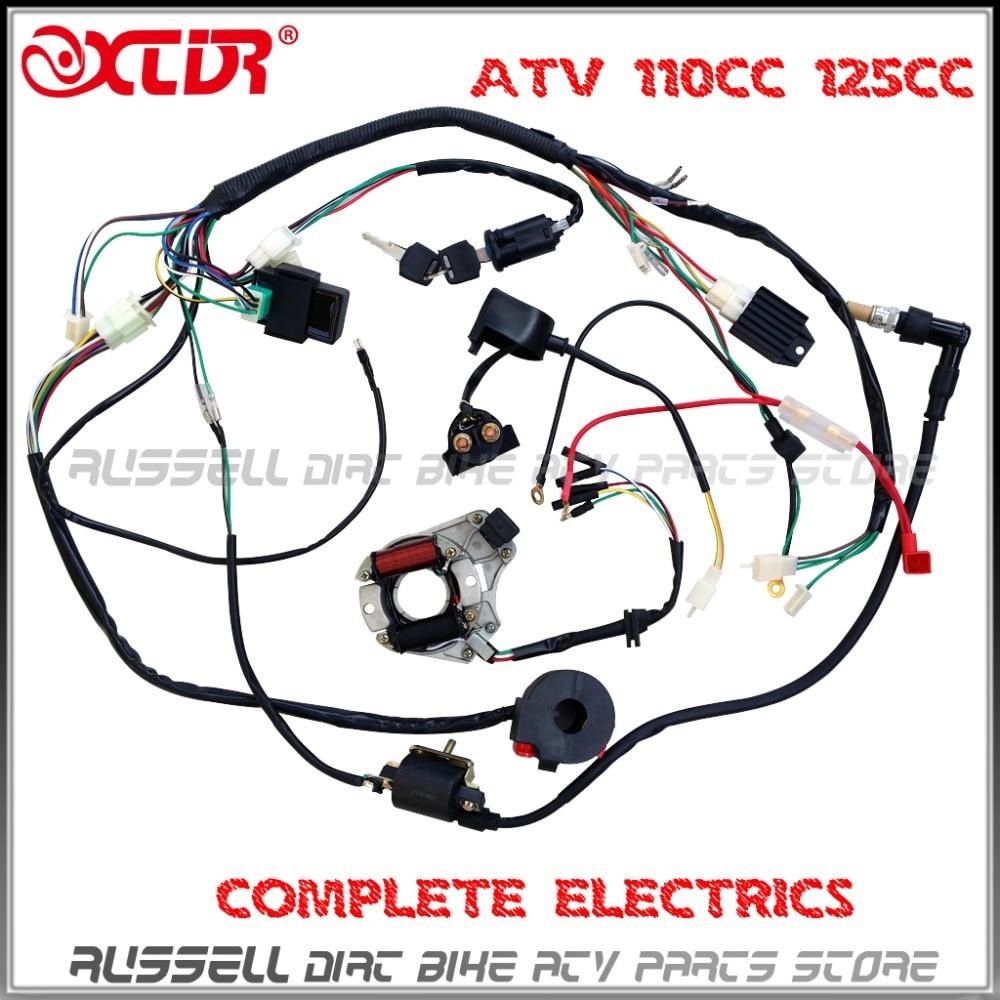 50cc atv wiring harness