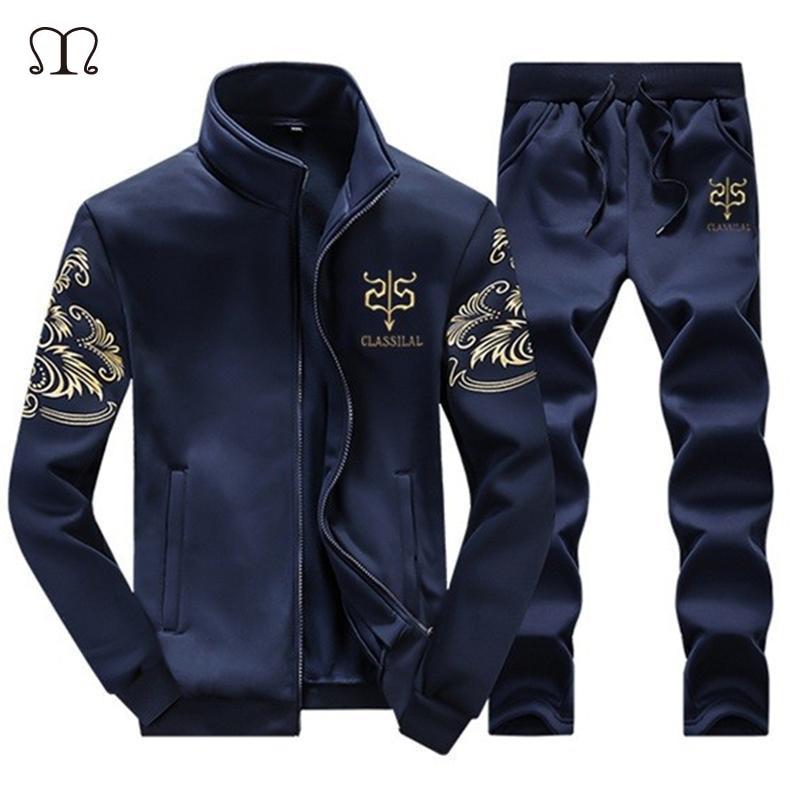Fashion Men's Sportswear Hoodies Men Casual Sweatshirt Male Tracksuit Men Brand Sportswear Man Leisure Outwear Tracksuit Sets