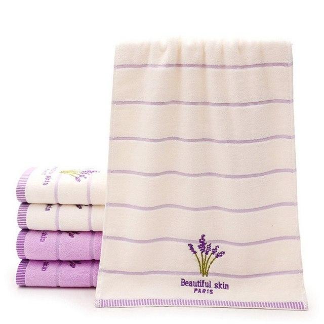 Lavender Pattern Cotton Towel