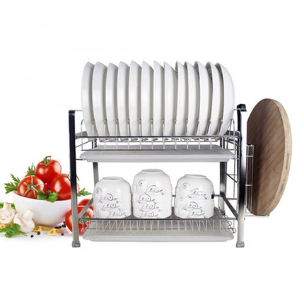 Stainless steel double layer combination type plate holder bowl rack kitchen dish rack  sc 1 st  AliExpress.com & Stainless steel double layer combination type plate holder bowl rack ...