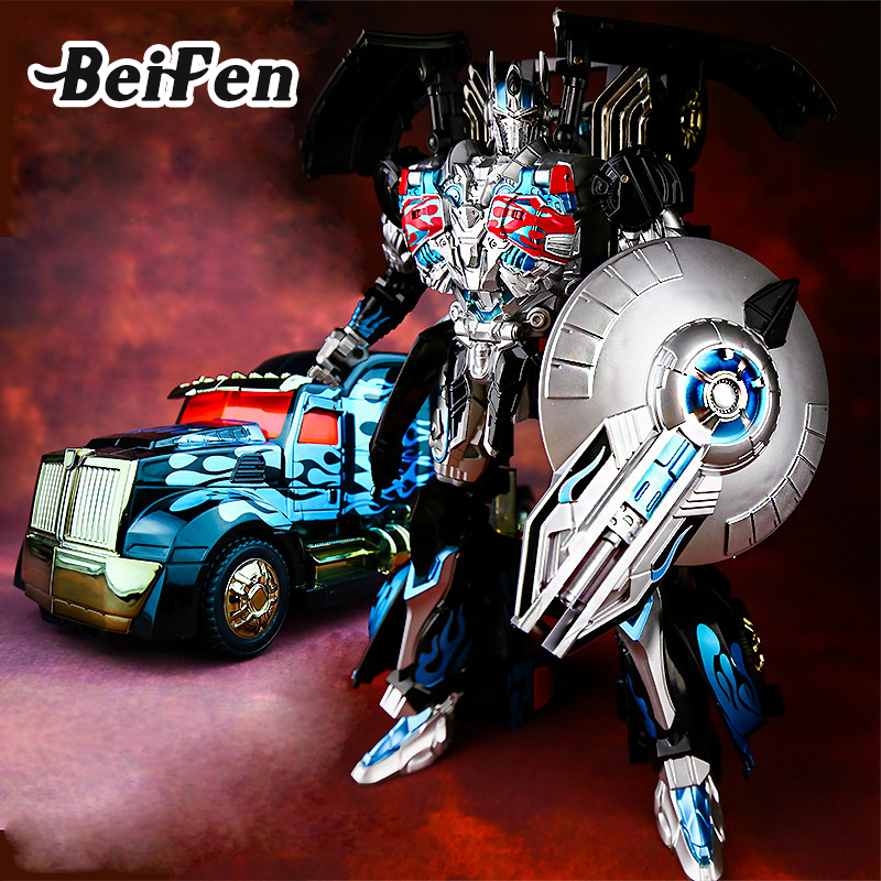 Bei Fen Transformation 30cm Big Car Robot Movie 5 Hero Action Figures Model Set AD31 Children Educational Toys Christmas Gift 12pcs set children kids toys gift mini figures toys little pet animal cat dog lps action figures