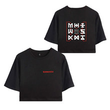 b570030e0ef Monster X Hot Group Korea Women s Exposed Navel Sexy Short T shirt Lady Kpop  Hip Hop O-Neck Summer Cool T-Shirts Plus Size