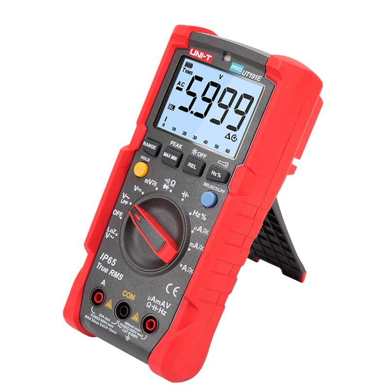 UNI T ut191eut191t multímetro profissional; verdadeiro rms ip65 impermeáveldustproof multímetro digital