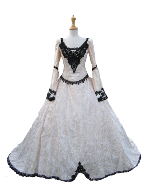 Gothic Fairy Medieval or Renaissance Style Fantasy Set with Cape and Overskirts Vintage Wedding Party Prom Dresses