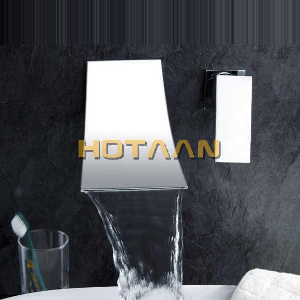 Кухонный кран torneiras Раковина Водопад кран. Настенный Каскадный светодиод крана. Смеситель для раковины. YT-5070