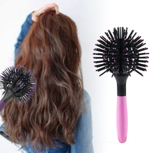 T2N2 3D Ball Shape Hair Brush Heat Resistant Hair Styling Blow Drying Comb Salon Magic Curly Hair Massage Comb