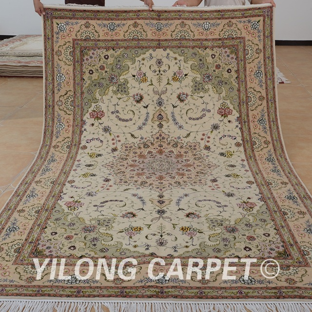 Yilong 6 X9 Oriental Woven Wool Carpet Handmade Exquisite Rugs India 1413