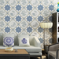 Chinese Classical Papel De Parede 3D Wall Paper For Living Room Study House TV Wall Background