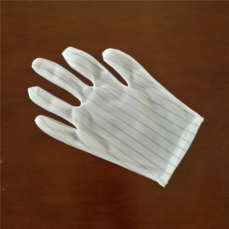 Anti-static Gloves Stripe Double-sided Electrostatic Gloves Protective Dust-proof Electronics Factory Work Gloves Dust-free Sulf